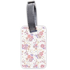 Flower Floral Sunflower Rose Purple Red Star Luggage Tags (two Sides)