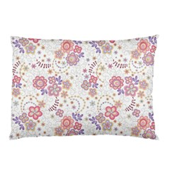 Flower Floral Sunflower Rose Purple Red Star Pillow Case (two Sides) by Mariart