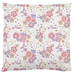 Flower Floral Sunflower Rose Purple Red Star Standard Flano Cushion Case (two Sides) by Mariart