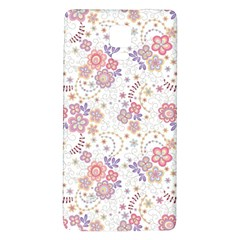 Flower Floral Sunflower Rose Purple Red Star Galaxy Note 4 Back Case by Mariart