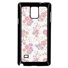 Flower Floral Sunflower Rose Purple Red Star Samsung Galaxy Note 4 Case (black) by Mariart