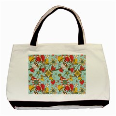 Flower Fruit Star Polka Rainbow Rose Basic Tote Bag (two Sides) by Mariart