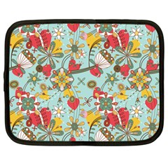 Flower Fruit Star Polka Rainbow Rose Netbook Case (xxl)