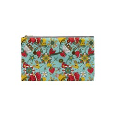 Flower Fruit Star Polka Rainbow Rose Cosmetic Bag (small)