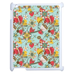 Flower Fruit Star Polka Rainbow Rose Apple Ipad 2 Case (white) by Mariart