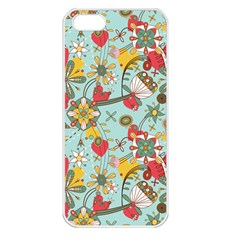 Flower Fruit Star Polka Rainbow Rose Apple Iphone 5 Seamless Case (white) by Mariart