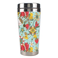 Flower Fruit Star Polka Rainbow Rose Stainless Steel Travel Tumblers by Mariart