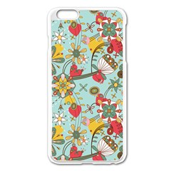Flower Fruit Star Polka Rainbow Rose Apple Iphone 6 Plus/6s Plus Enamel White Case by Mariart