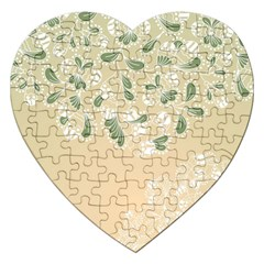Flower Frame Green Sexy Jigsaw Puzzle (heart)