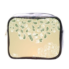 Flower Frame Green Sexy Mini Toiletries Bags by Mariart