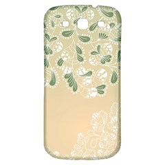 Flower Frame Green Sexy Samsung Galaxy S3 S Iii Classic Hardshell Back Case by Mariart