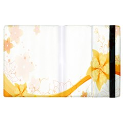 Flower Floral Yellow Sunflower Star Leaf Line Apple Ipad 3/4 Flip Case by Mariart