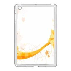 Flower Floral Yellow Sunflower Star Leaf Line Apple Ipad Mini Case (white)