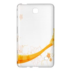 Flower Floral Yellow Sunflower Star Leaf Line Samsung Galaxy Tab 4 (8 ) Hardshell Case  by Mariart