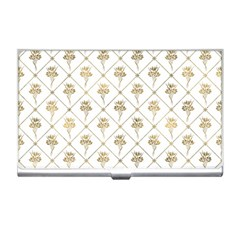 Flower Leaf Gold Business Card Holders by Mariart