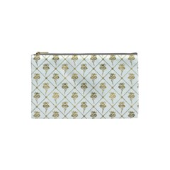 Flower Leaf Gold Cosmetic Bag (small)  by Mariart