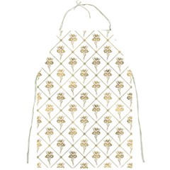 Flower Leaf Gold Full Print Aprons by Mariart