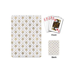 Flower Leaf Gold Playing Cards (mini)  by Mariart