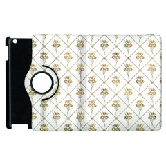 Flower Leaf Gold Apple Ipad 2 Flip 360 Case by Mariart