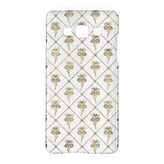 Flower Leaf Gold Samsung Galaxy A5 Hardshell Case  by Mariart