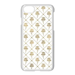 Flower Leaf Gold Apple Iphone 7 Seamless Case (white) by Mariart