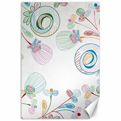 Flower Rainbow Circle Polka Leaf Sexy Canvas 24  X 36  by Mariart