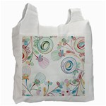 Flower Rainbow Circle Polka Leaf Sexy Recycle Bag (One Side) Front
