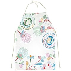 Flower Rainbow Circle Polka Leaf Sexy Full Print Aprons by Mariart
