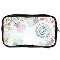 Flower Rainbow Circle Polka Leaf Sexy Toiletries Bags 2 Side by Mariart