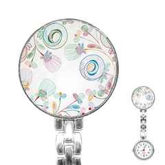 Flower Rainbow Circle Polka Leaf Sexy Stainless Steel Nurses Watch by Mariart
