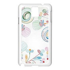 Flower Rainbow Circle Polka Leaf Sexy Samsung Galaxy Note 3 N9005 Case (white) by Mariart