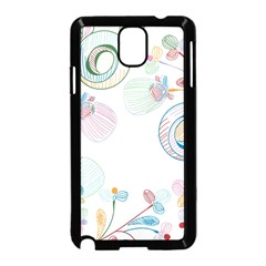 Flower Rainbow Circle Polka Leaf Sexy Samsung Galaxy Note 3 Neo Hardshell Case (black) by Mariart