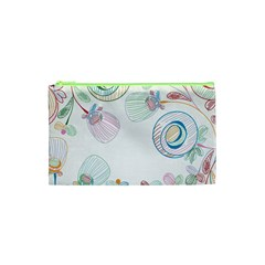 Flower Rainbow Circle Polka Leaf Sexy Cosmetic Bag (xs) by Mariart