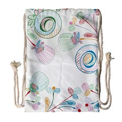 Flower Rainbow Circle Polka Leaf Sexy Drawstring Bag (large) by Mariart