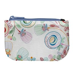 Flower Rainbow Circle Polka Leaf Sexy Large Coin Purse by Mariart
