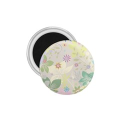 Flower Rainbow Star Floral Sexy Purple Green Yellow White Rose 1 75  Magnets by Mariart