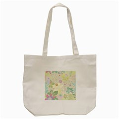 Flower Rainbow Star Floral Sexy Purple Green Yellow White Rose Tote Bag (cream) by Mariart