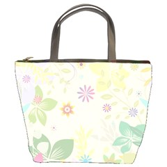 Flower Rainbow Star Floral Sexy Purple Green Yellow White Rose Bucket Bags by Mariart