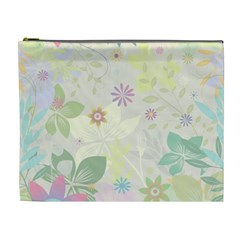 Flower Rainbow Star Floral Sexy Purple Green Yellow White Rose Cosmetic Bag (xl)