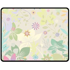 Flower Rainbow Star Floral Sexy Purple Green Yellow White Rose Fleece Blanket (medium)  by Mariart