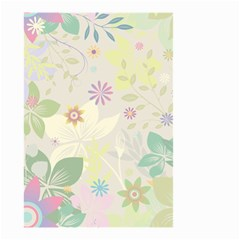 Flower Rainbow Star Floral Sexy Purple Green Yellow White Rose Small Garden Flag (two Sides) by Mariart