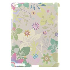 Flower Rainbow Star Floral Sexy Purple Green Yellow White Rose Apple Ipad 3/4 Hardshell Case (compatible With Smart Cover) by Mariart