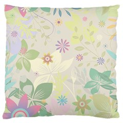 Flower Rainbow Star Floral Sexy Purple Green Yellow White Rose Large Cushion Case (two Sides) by Mariart
