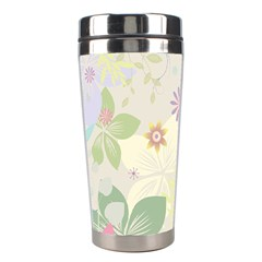 Flower Rainbow Star Floral Sexy Purple Green Yellow White Rose Stainless Steel Travel Tumblers by Mariart