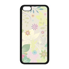 Flower Rainbow Star Floral Sexy Purple Green Yellow White Rose Apple Iphone 5c Seamless Case (black) by Mariart