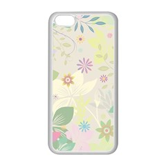 Flower Rainbow Star Floral Sexy Purple Green Yellow White Rose Apple Iphone 5c Seamless Case (white) by Mariart