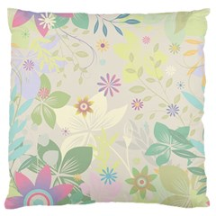 Flower Rainbow Star Floral Sexy Purple Green Yellow White Rose Standard Flano Cushion Case (two Sides) by Mariart