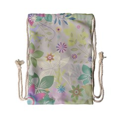 Flower Rainbow Star Floral Sexy Purple Green Yellow White Rose Drawstring Bag (small) by Mariart