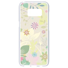 Flower Rainbow Star Floral Sexy Purple Green Yellow White Rose Samsung Galaxy S8 White Seamless Case by Mariart
