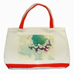 Flower Rose Purple Sunflower Lotus Classic Tote Bag (red) by Mariart